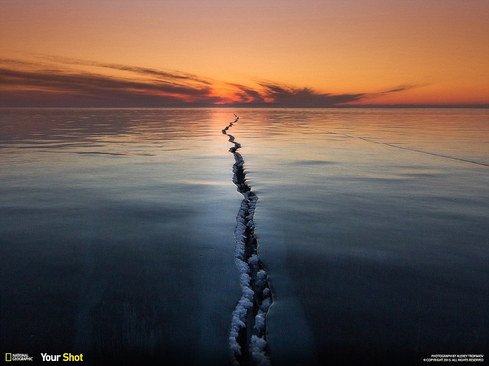 This photo was taken in February 2015 on Lake Baikal. In ety photo expedition goal was to show the Baikal ice particular and unusual.